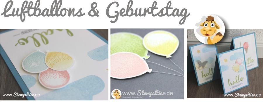 stampin up workshop kaufbeuren allgäu luftballons partyballons geburtstag