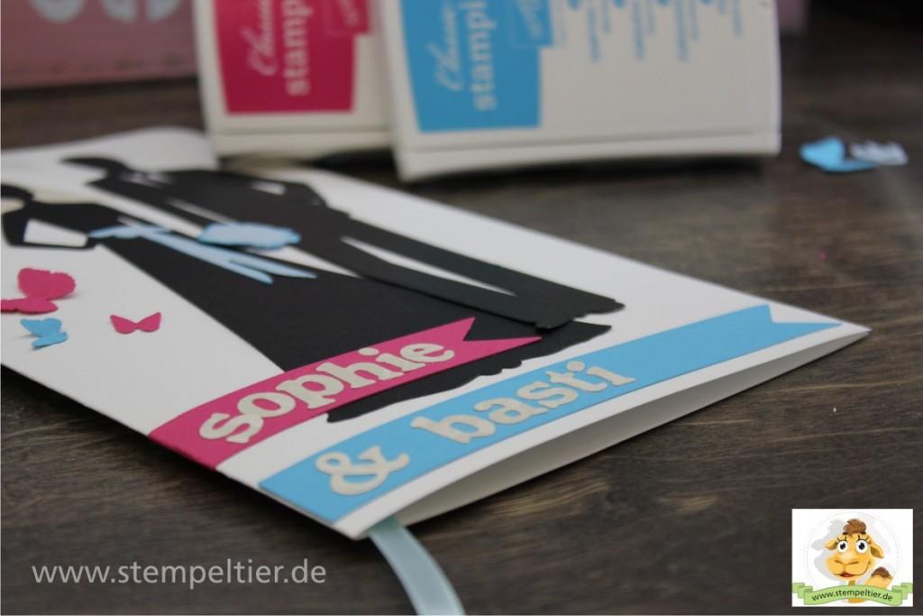 Hochzeitskarte Grußkarte Stampin' Up! Wassermelone Türkis
