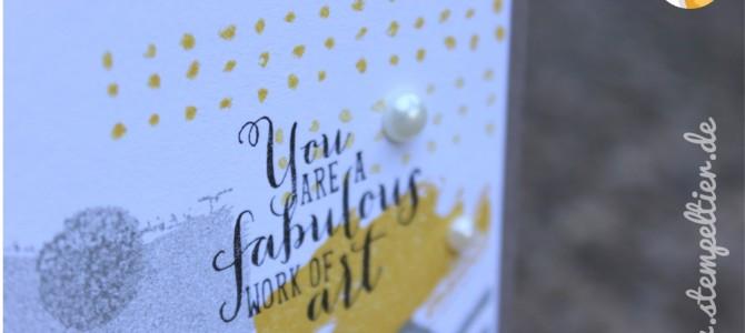 Künstlerische Geburtstagskarte mit Work of Art