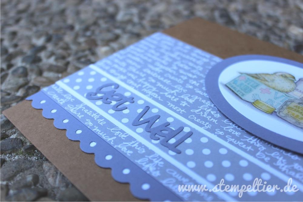 stampin up genesung gute besserung get well DP Neutralfarben schiefergrau blauregen kraft house mouse karte
