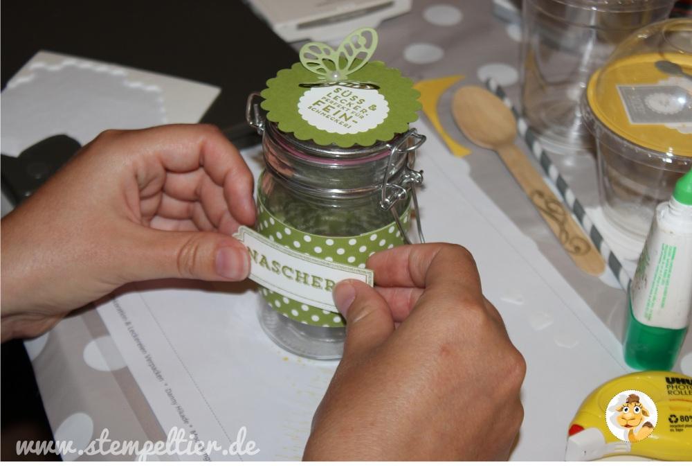 stampinup_stempeltier_workshop_dekoration_verpackung_geschenk_leckerei_glas_smoothiebecher_dombecher_domecup_klarsichtbecher_olivgruen
