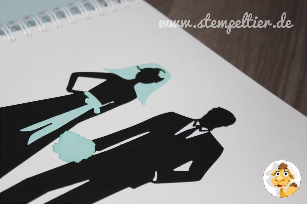 stampin up stempeltier Hochzeit wedding Gästealbum guest book Brautpaar
