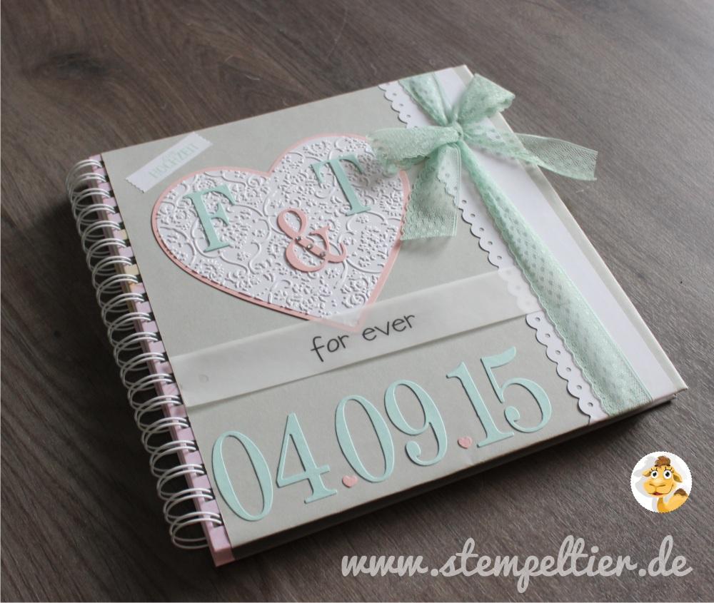 stampin up stempeltier Hochzeit wedding Gästealbum guest book cover 1