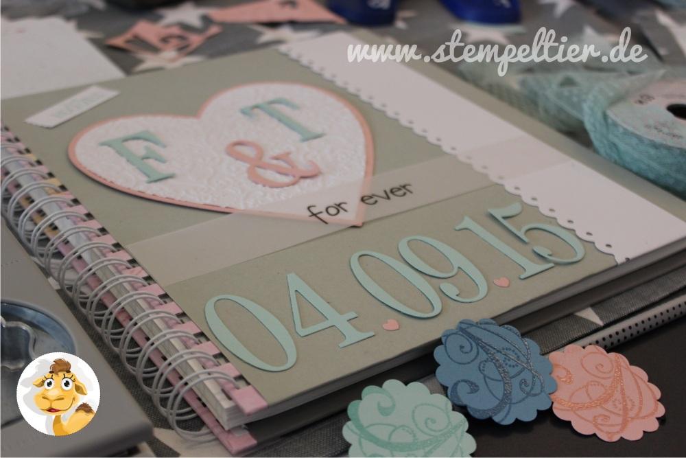 stampin up stempeltier Hochzeit wedding Gästealbum guest book cover