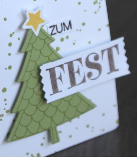 stampin up christmas tree gruß zum fest weihachtliche Worte tannenbaum peaceful pines gift bag Geschenktüte stempeltier weihnachtsgrüße 1