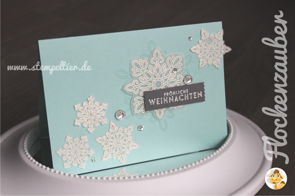 stampin up stemepltier flockenzauber schneeflocken winter snowflakes flurry of wishes