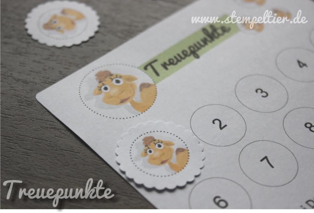 treuepunkte stampin up stempeltier treuekarte bonuskarte bonuspunkte punktesystem gutschein