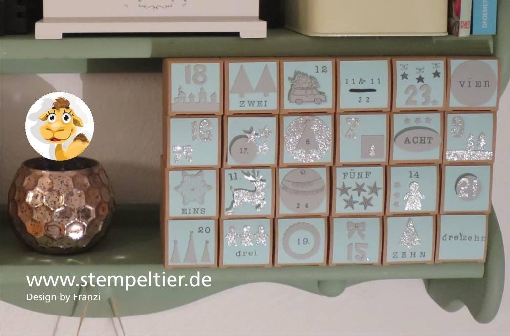 stampin up adventskalender 24 türchen workshop selber machen Weihnachten stempeltier ribba rahmen
