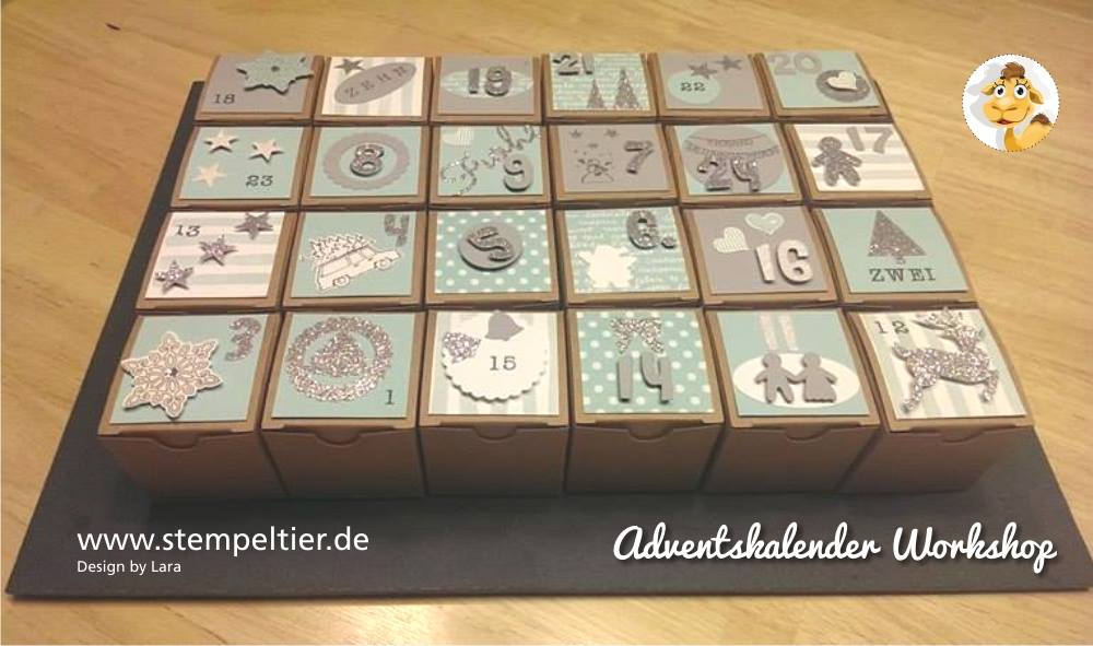 Einzigartig Adventskalender Workshop - Stempeltier WK57