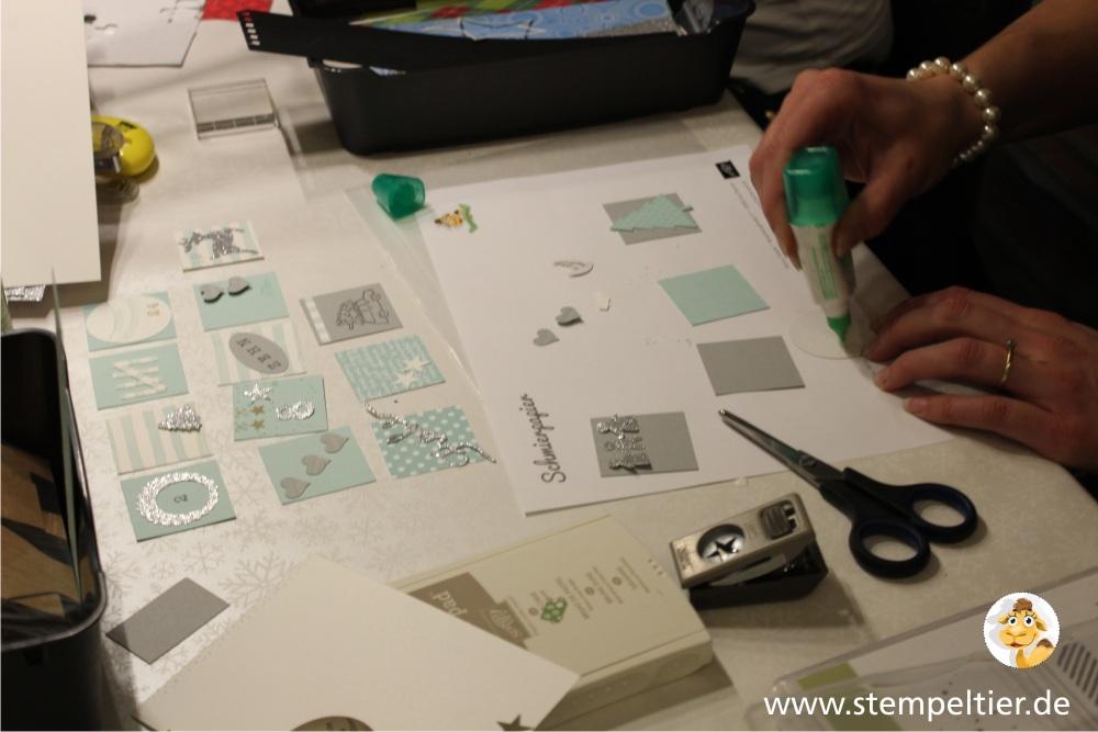 stempeltier adventskalenderworkshop stampin up tiny treat boxes geschenkschachteln