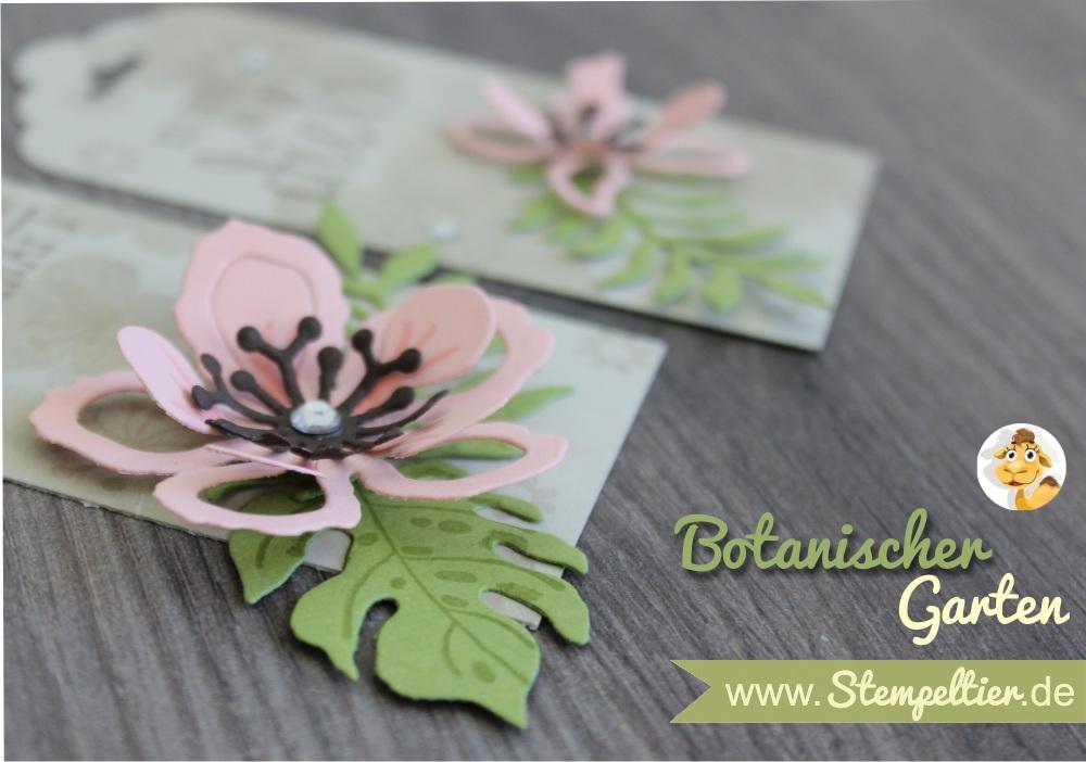 SU stampin up sommer stempeltier botanical blooms rosa anhänger verpacken