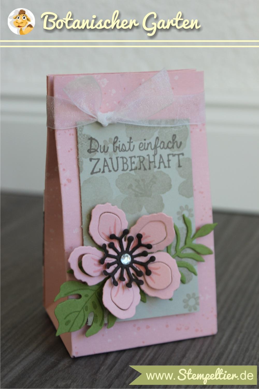 SU stampin up sommer stempeltier botanical blooms rosa verpacken geschenktuete falzbrett stanzbrett punchboard gift bag