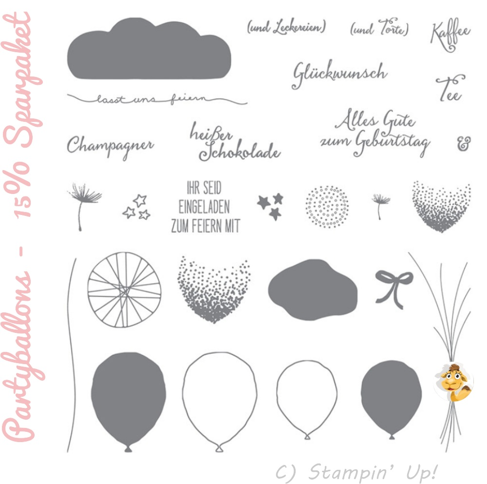 Stampin up saisonkatalog sommer frühling 2016 vorschau sneak peek preview partyballons luftballon party sparset