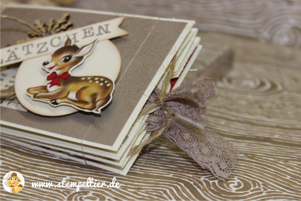 plätzchen stempeltier stampin up heimelige weihnachten DSP kitz bambi reh plätzchen rezept minibuch weihnachten 3