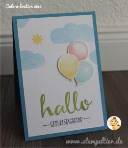 sale a bration stampin up stempeltier hello gratis geburtstag luftballon partyballons