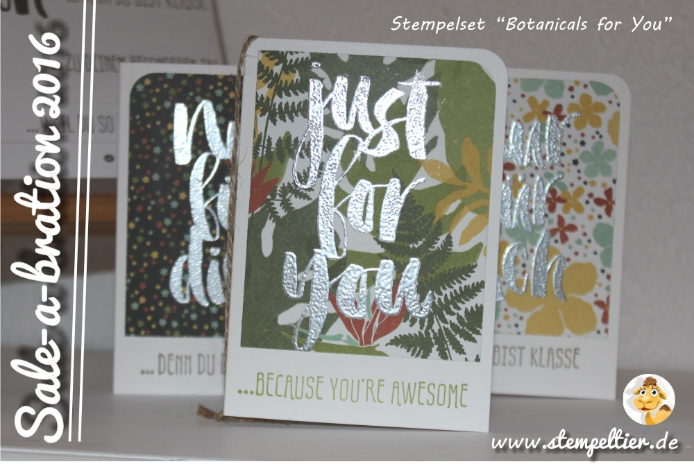 stampin up SAB sale a bration 2016 frühjar sommerkatalog stempeltier gratis blumen für dich Botanicals for you botanical garden