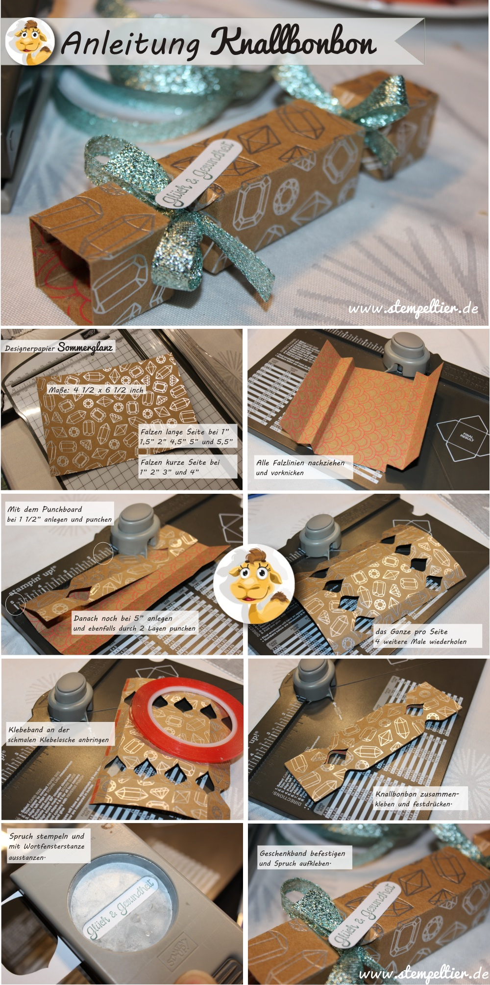 stampin up anleitung knallbonbon silvester how to tutorial stempeltier designerpapier sommerglanz frühjahr sommer 2016 SAB saleabration