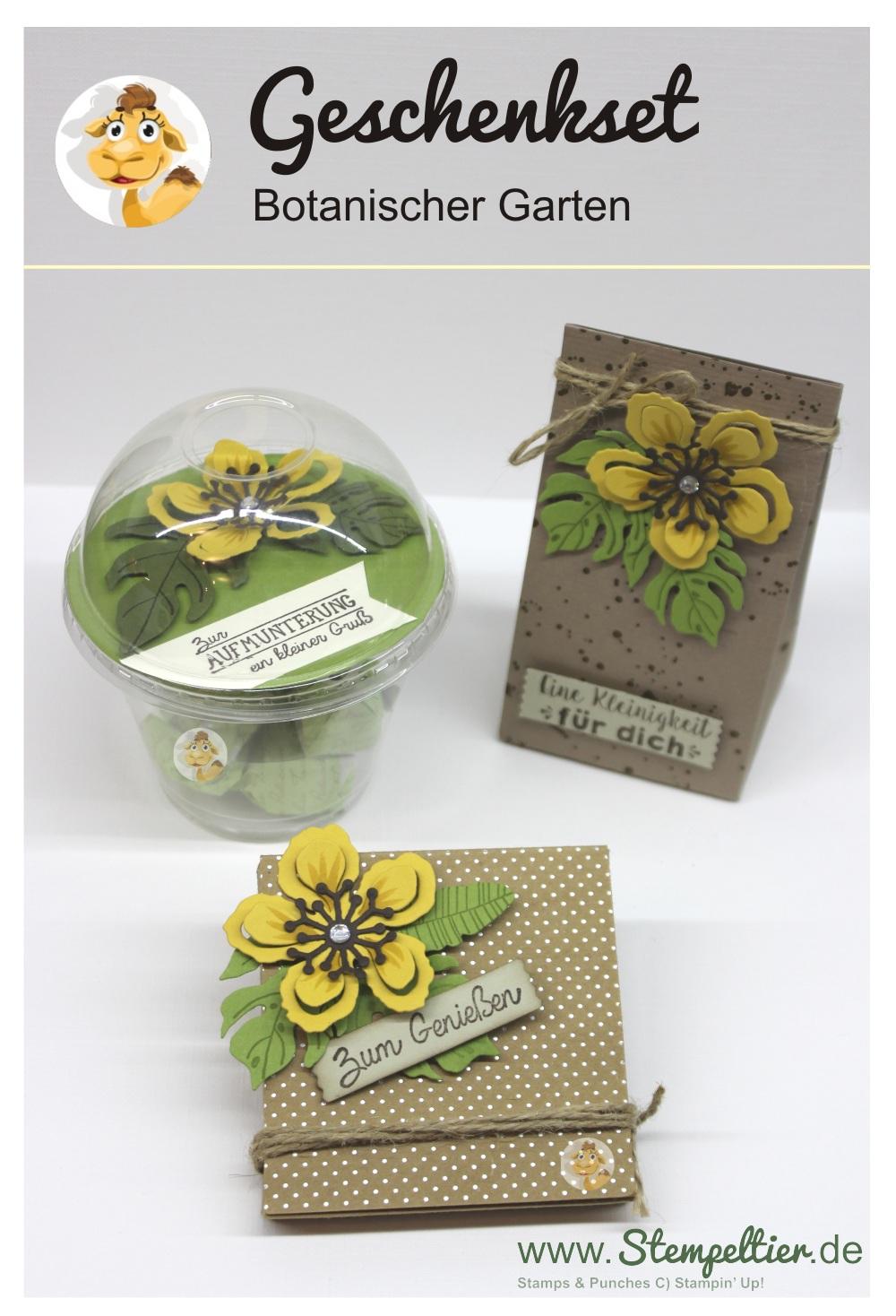 stampin up stempeltier domecup smoothiebecher Dombecher botanischer garten verpackung botanical blooms
