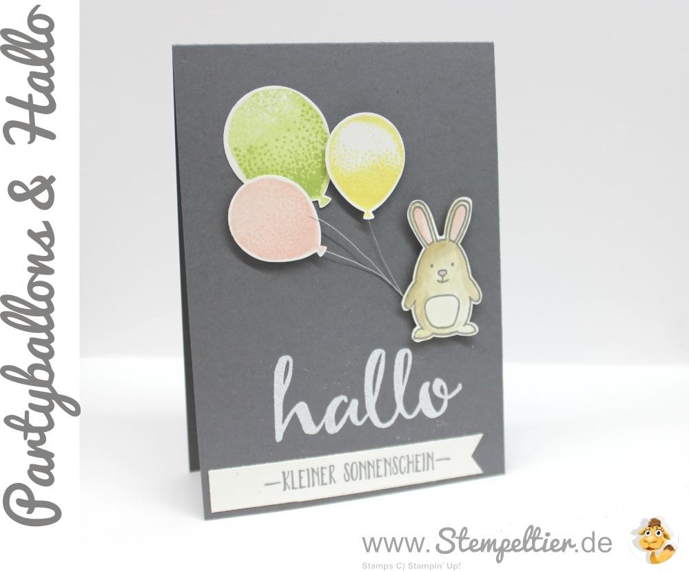 stampin up stempeltier Partyballons_Hase_Luftballons_Hallo SAB Frühjahr Sommerkatalog 2016 vorschau saleabration hello