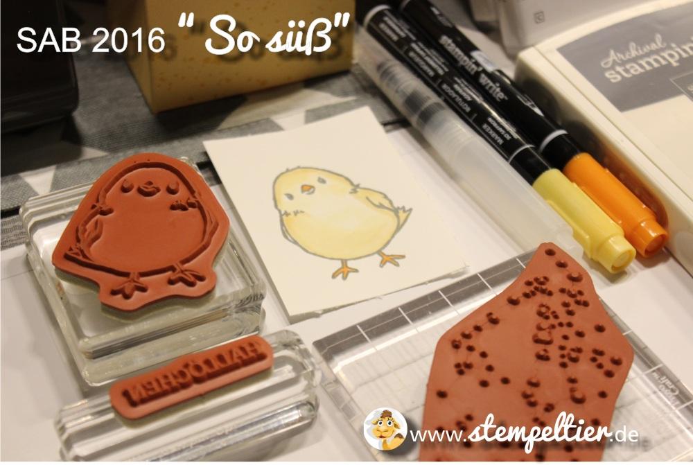 stampinup SU so suess honeycomb happiness SAB 2016 saleabration stempeltier Küken Ostern easter chick 1