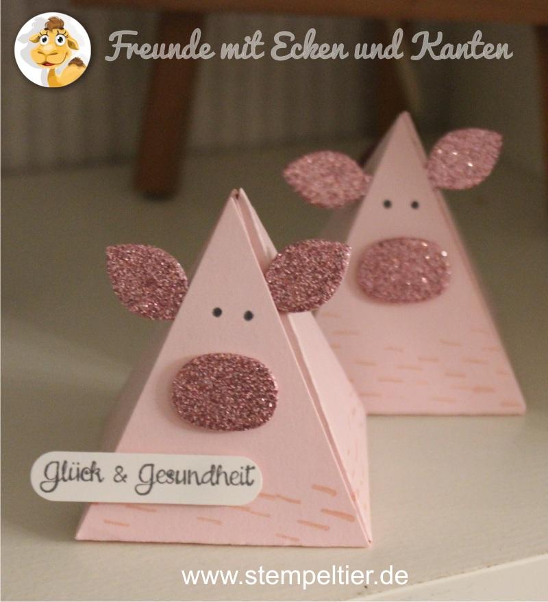 stampinup pyramid pals playful pals freunde mit ecken und kanten schwein pig new years luck
