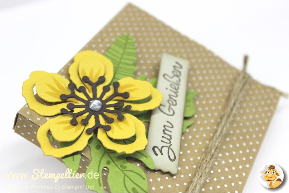 stempeltier stampin up merci verpackung botanischer garten