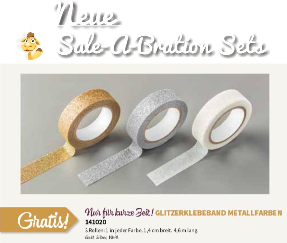 stampin up SAB sale a bration 2016 neu glitzerklebeband tape glitter stempeltier frühjahr sommer