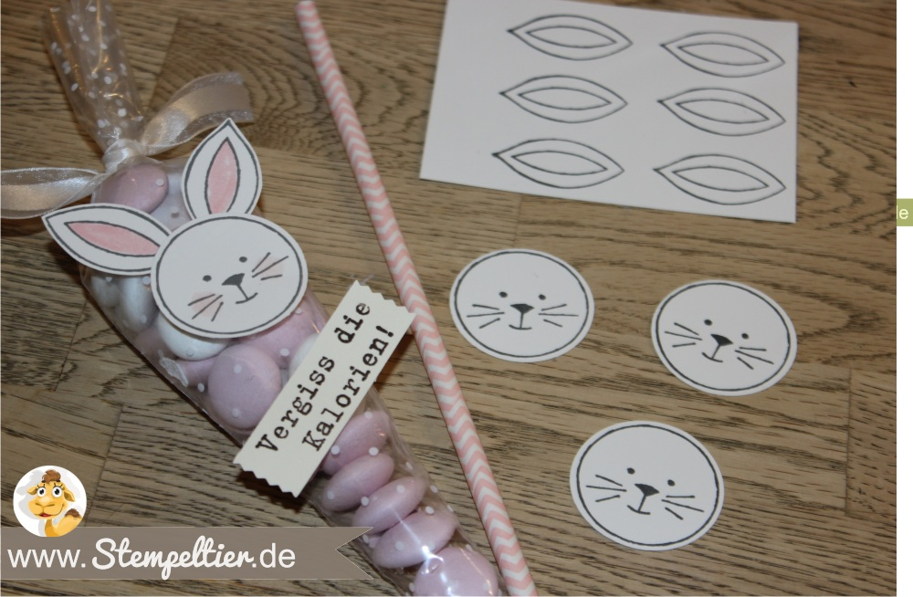 stampin up friends and flowers hase ostern easter bunny tüte Polka Dot Cone Cellophane Bags verpacken