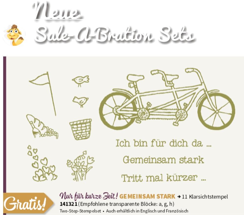 stampin up gemeinsam stark pedal pusher SAB sale a bration 2016 neu stempeltier frühjahr sommer