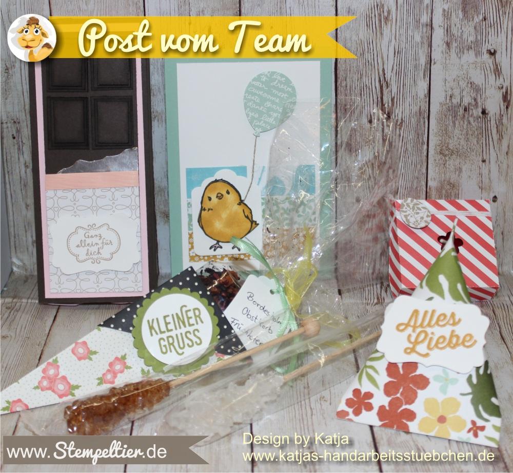 grußkarte Ostern Katja Team stempeltier stampin up so süß SAB ostern 2016 verpackung