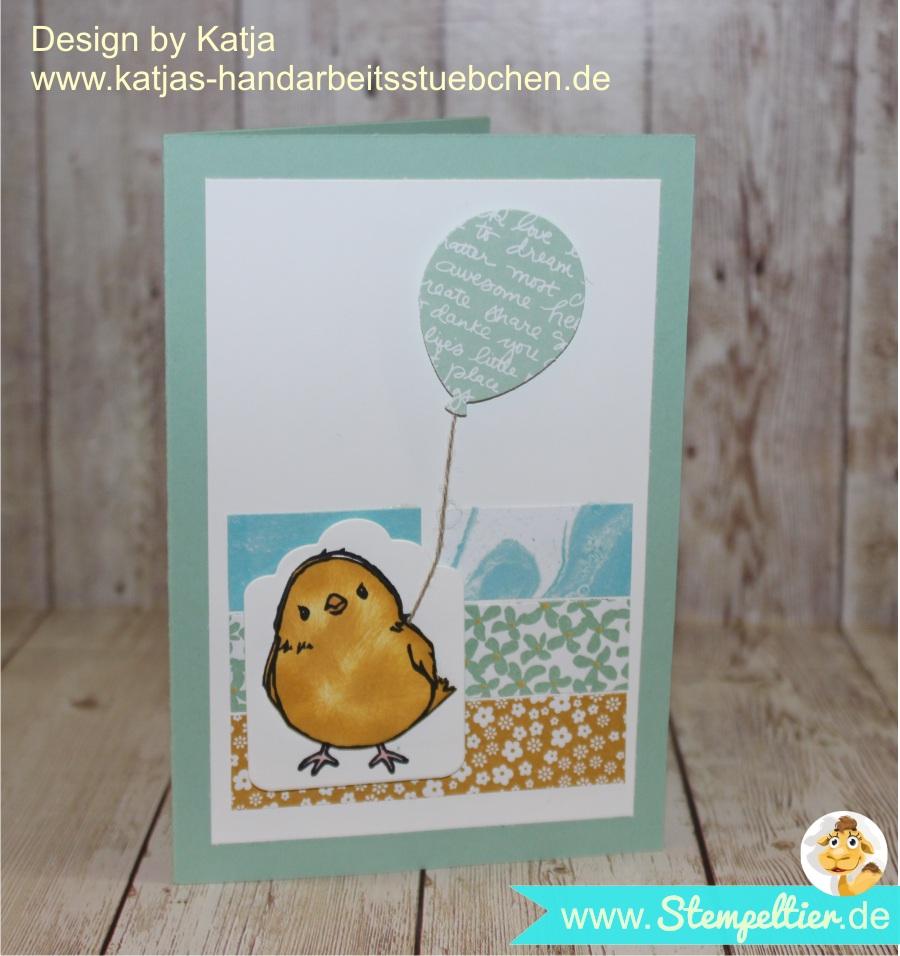 grußkarte Ostern Katja Team stempeltier stampin up so süß SAB ostern 2016