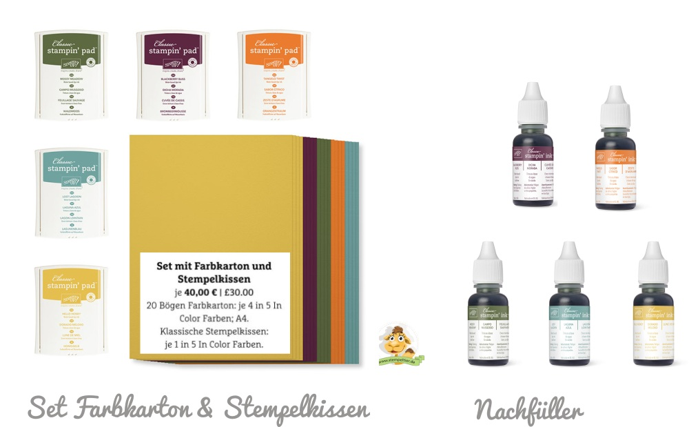 set incolors2014 2016 stempelkissen und farbkarton nachfüller
