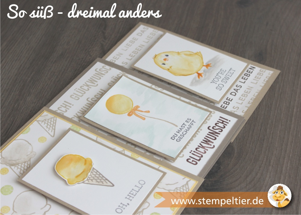 stampin up SAB sale a bration 2016 so süß küken luftballon eis stempeltier paarweise
