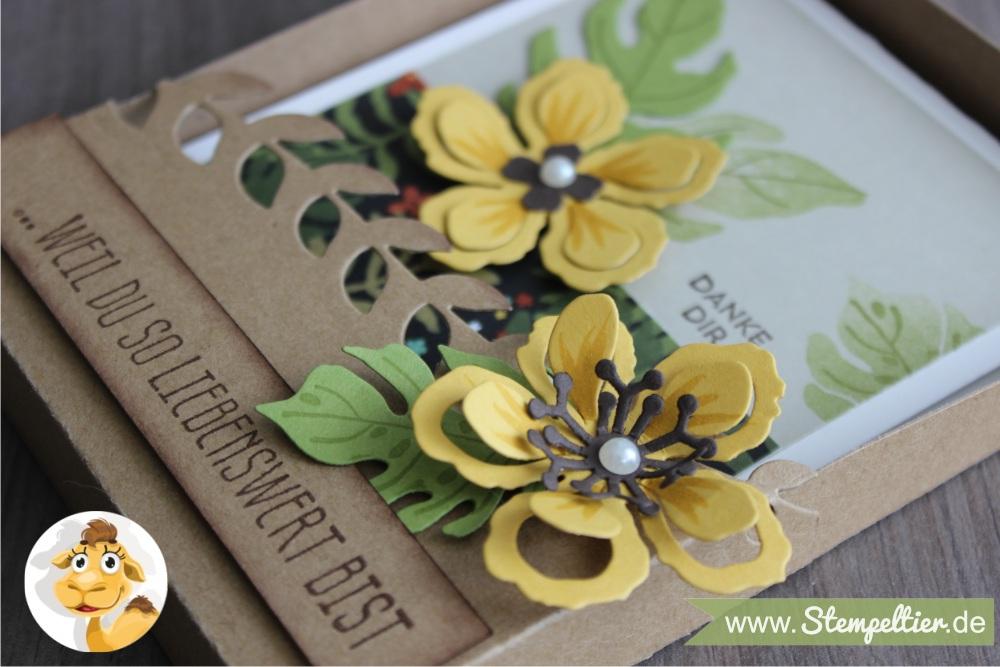 stampin up botanical blooms botanischer garten grußkarte geschenkbox anleitung tororial verpackung 1