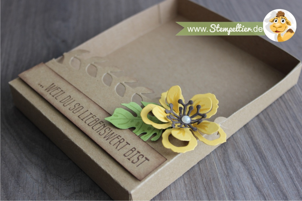 stampin up botanical blooms botanischer garten grußkarte geschenkbox anleitung tororial verpackung