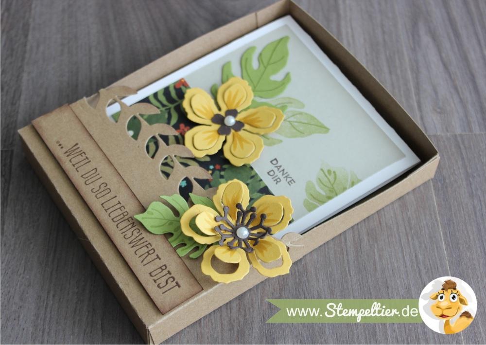 stampin up botanical blooms botanischer garten grußkarte geschenkbox anleitung tutorial