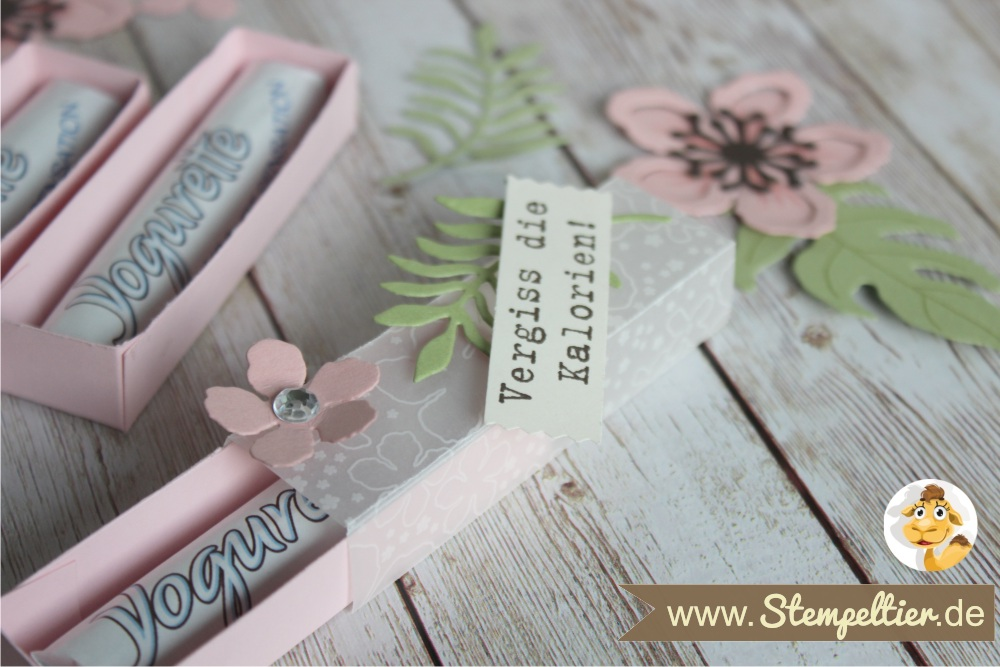 2016 yogurette Verpackung anleitung tutorial stampin up stempeltier botanical blooms box chocolate goodie verpacken preview 2