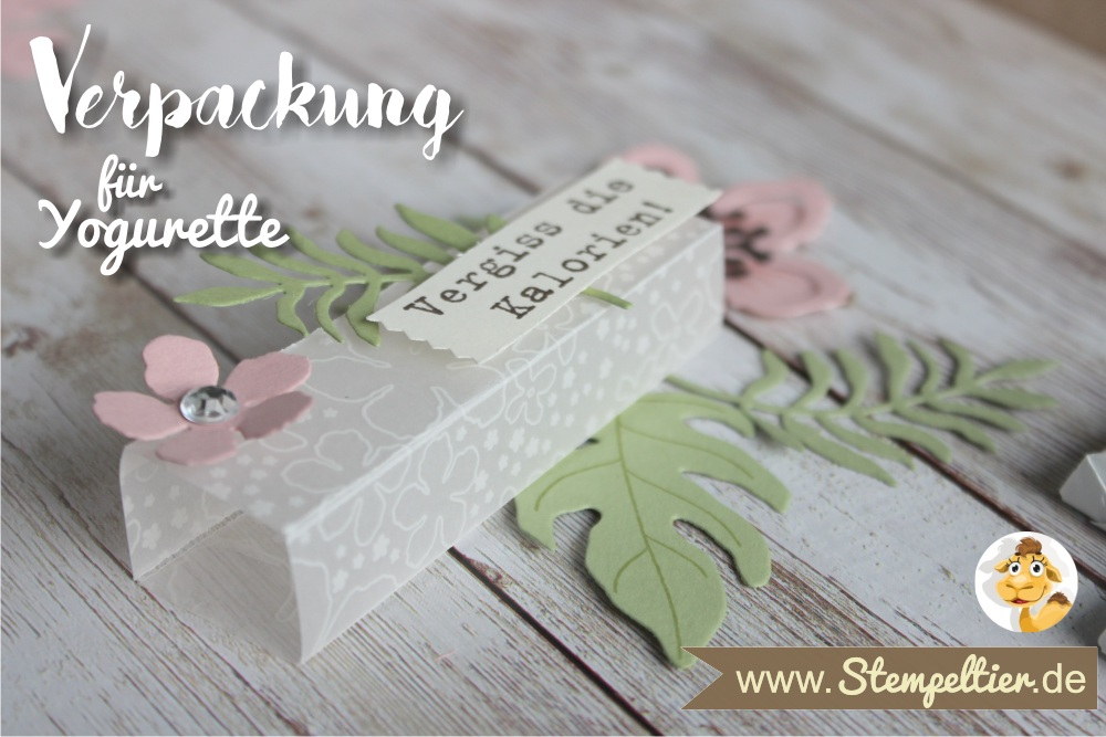 2016 yogurette Verpackung anleitung tutorial stampin up stempeltier botanical blooms box chocolate goodie verpacken preview 4