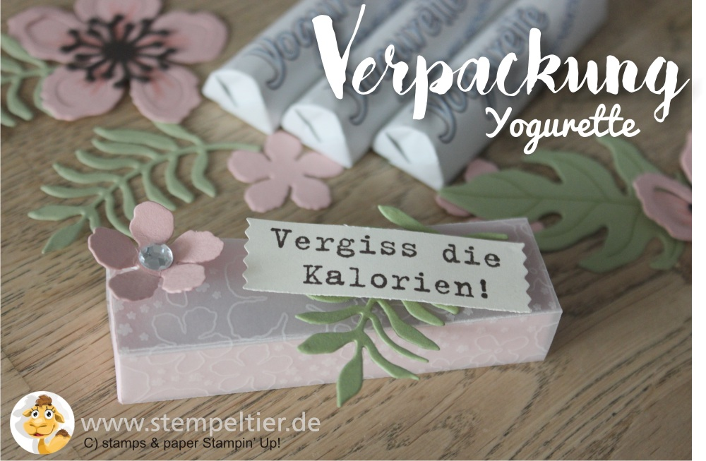 2016 yogurette Verpackung anleitung tutorial stampin up stempeltier botanical blooms box chocolate goodie verpacken
