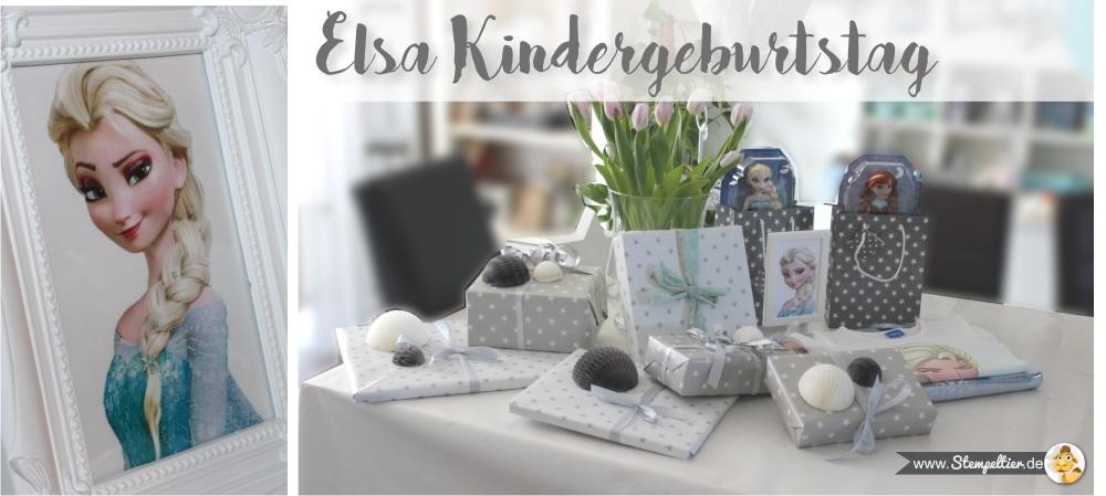 elsa frozen eiskönigin kindergeburtstag Bilderrahmen deko stampin up einladung invitation stempeltier party