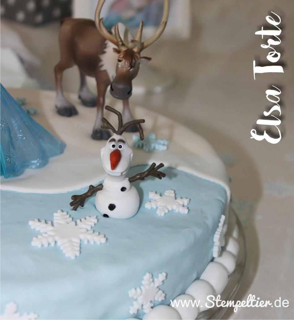 elsa torte Kindergeburtstag kuchen frozen eiskönigin olaf