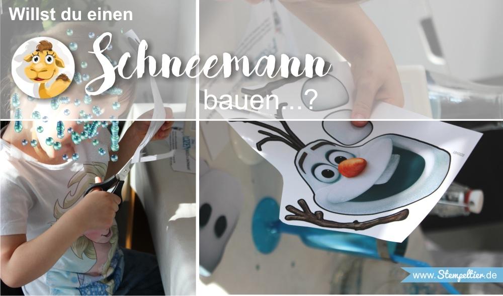 frozen eiskönigin party deko schnemann bauen vorlage freebie