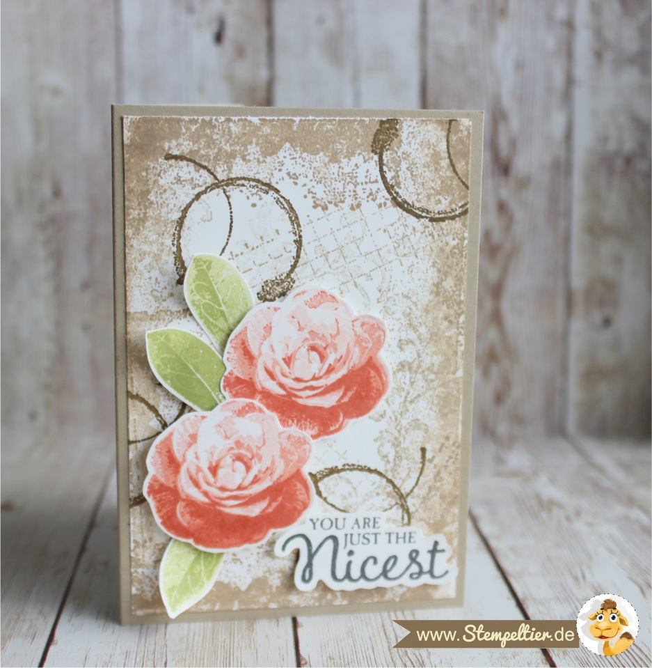 picture perfect timeless textures Rosen roses stempeltier grußkarte geburtstag you are just the nicest 2 step stamping technique 3