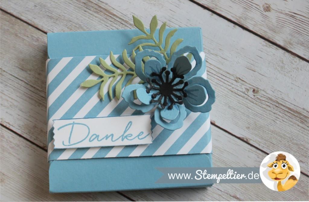 stampin up botanical blooms verpackung schokolade merci goodies stempeltier EPB envelope punchboard