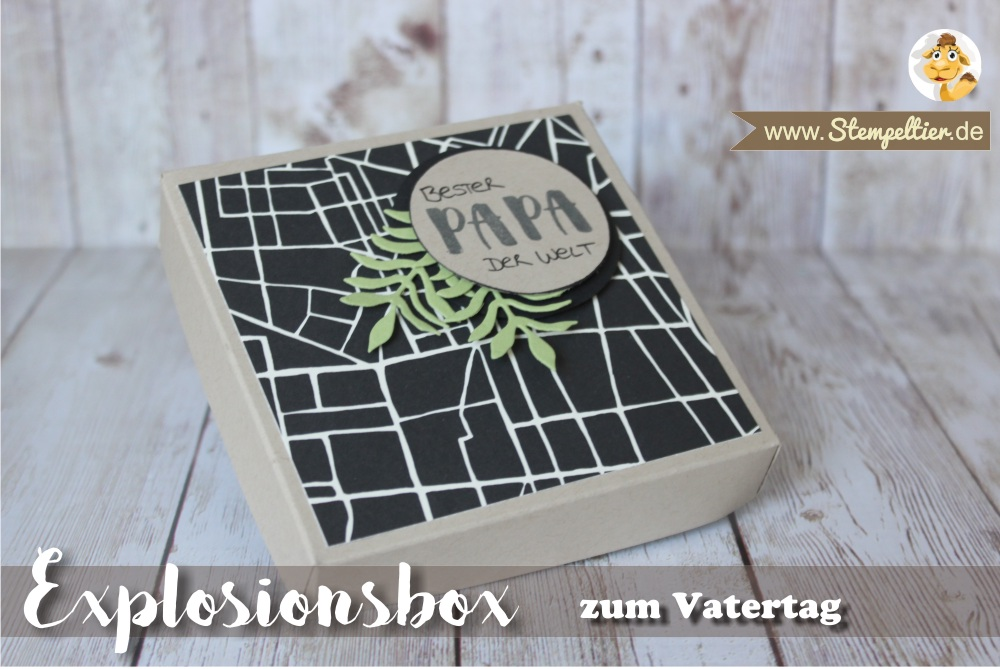 explosionsbox vatertag fathers day stampin up stempeltier männlich verpackung