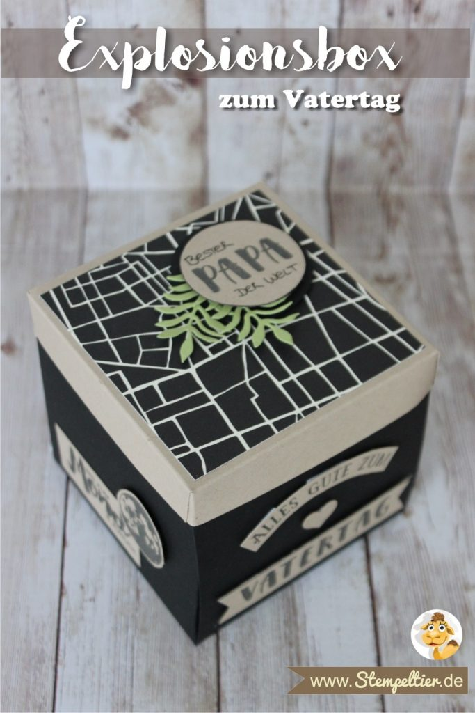 explosionsbox vatertag fathers day stempeltier stampin up weite welt