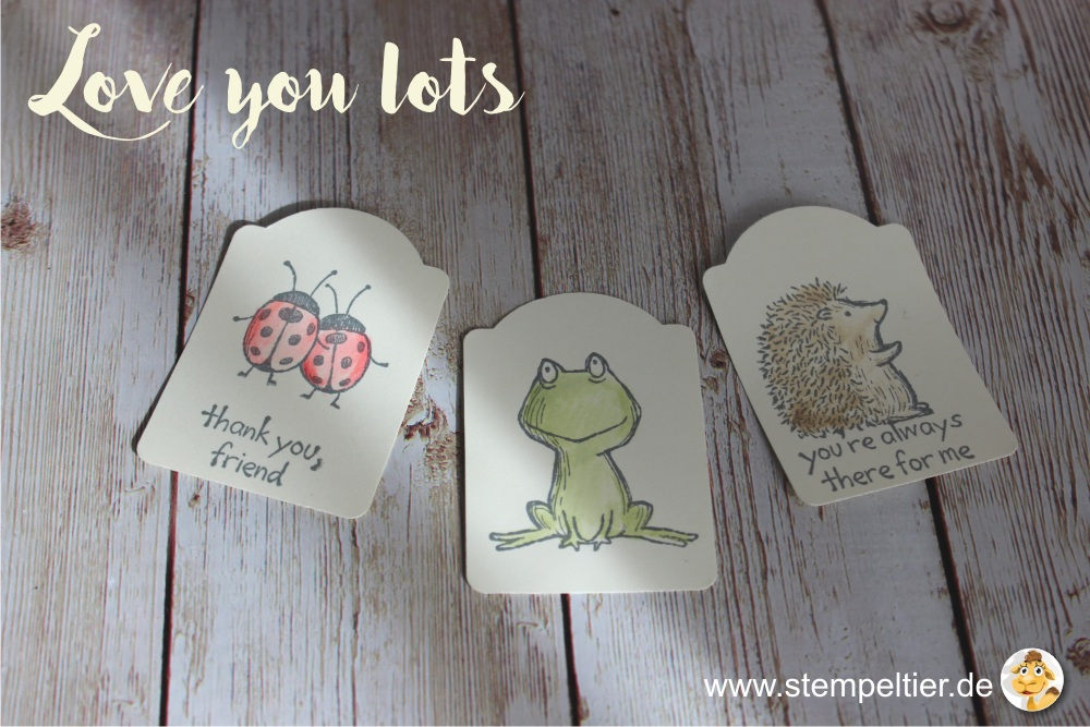 stampin up 2017 preview sneak peek love you lots gastgeberin hostess stempeltier frosch frog hedgehog igel lady bug punch