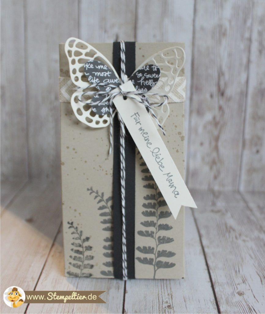 stampin up geschenktüten falzbrett gift bag punchboard butterfly framelits schmetterling watercolor wings stempeltier verpackung muttertag geniale grüße 2