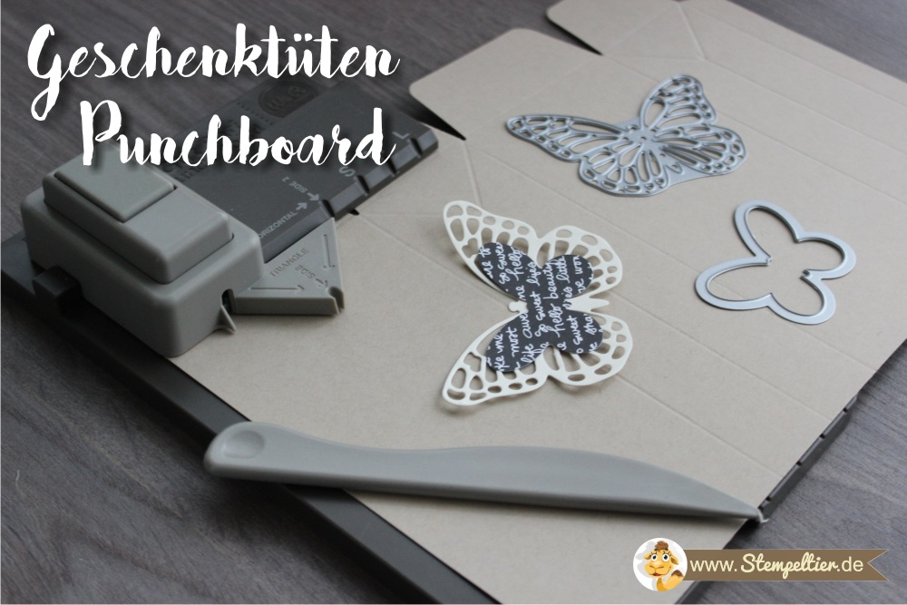 stampin up geschenktüten falzbrett gift bag punchboard butterfly framelits schmetterling watercolor wings stempeltier verpackung