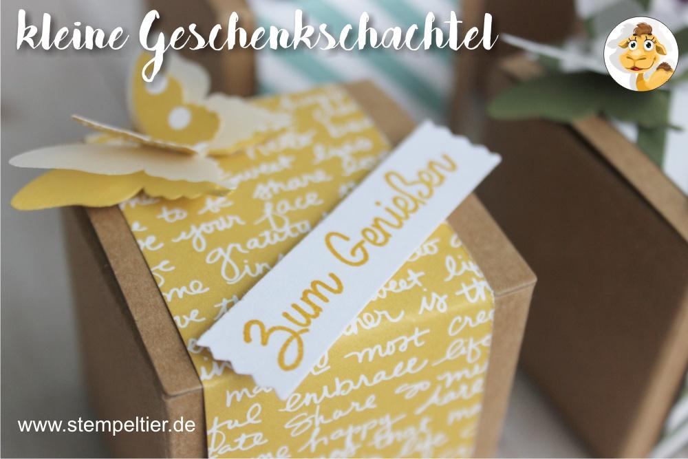 stampin up honiggelb designerpapier DSP inColor geschenkschachtel goodie verpackung stempeltier
